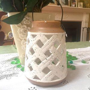 New Rustic Ceramic Speckled Multi-Purpose Lantern